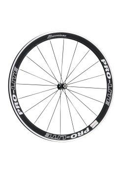 Pro-Lite-Bracciano-A42-Deep-Section-Alloy-Wheelset-Special-Black/White-Edition 9/10/11 Speed Shimano/SRAM